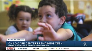 Healthcare workers depend on child care centers staying open