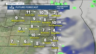 Warmer, humid Wednesday