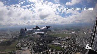 Jet flyover honors health workers