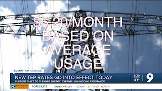 New TEP rates go into effect Jan. 1