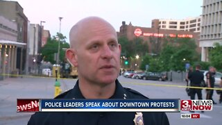 Police leaders speak about downtown protests