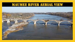 Maumee River Ohio Aerial View