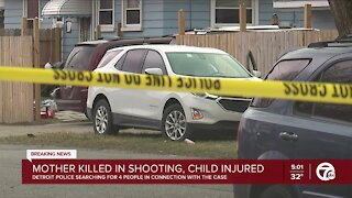 Detroit police searching for 4 people after shooting that left mother dead, 10 y.o. boy injured