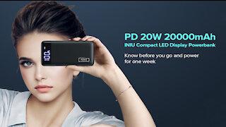 INIU Portable Power Bank 20,000mAh Battery Charger Review