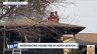 Fire destroys home in North Boston