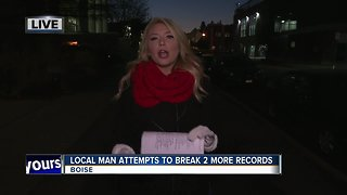 Man attempts 2 world records