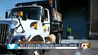 Crews prepare for winter storm