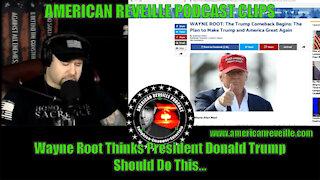 Wayne Root Thinks President Donald Trump Should Do This...