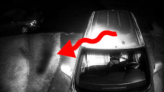 Mysterious demonic shadow figure caught on CCTV camera