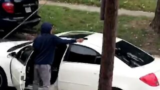 VIDEO: Driver shoots at 2 children playing basketball on Rockaway Street in Akron, police say