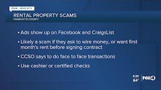 Rental property scam alert