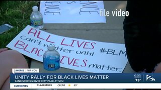 Unity Rally For Black Lives Matter Movement