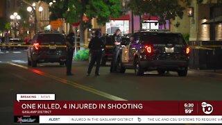 1 dead, 4 injured in Gaslamp Quarter shooting