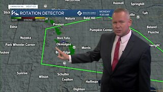 Tracking rain across Green Country