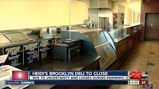 Heidi's Brooklyn Deli closing amid the pandemic