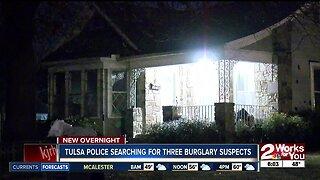 Tulsa police searching for three burglary suspects