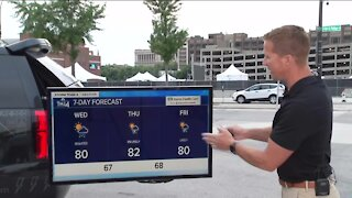 Chances of isolated showers Wednesday
