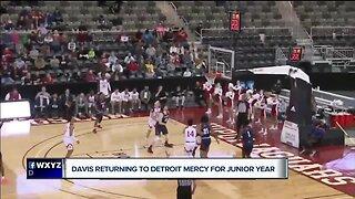 Detroit Mercy's Antoine Davis returning for junior year