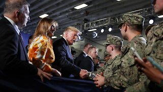 Trump Denies Insulting Troops As Poll Shows Military Vote Up For Grabs