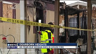 65-year-old woman dies in house fire in Dearborn Heights
