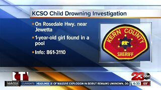 Child drowning investigation