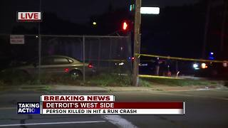 Person killed in hit-and-run crash on Detroit's west side