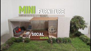 MINIATURE Social Garden - MINI FURNITURE - Landscape design ideas