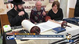Dedication ceremony for synagogue shooting victim