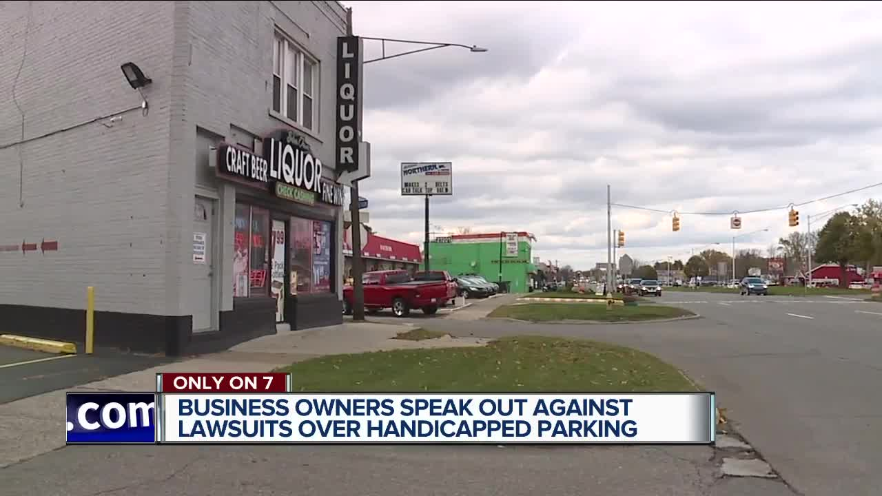 Business owners speak out against lawsuits over handicapped parking