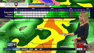 Strong winds impact Kern County ahead of today's storm