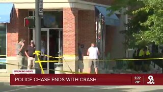 Police chase across Roebling ends in crash