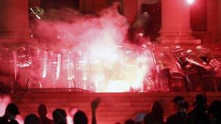 Serbian Police Detain 71 Protesters In Demonstrations Against Lockdown