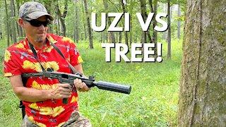 FULL AUTO UZI VS TREE!