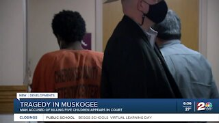 Man accused of killing 5 children appears in court