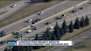 Construction project impacts Southfield Freeway and Michigan Avenue