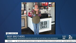 """Beef Brothers says """"We're Open Baltimore!"""""""