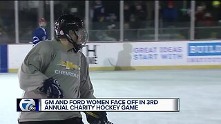 GM and Ford women face off in 3rd annual charity hockey game