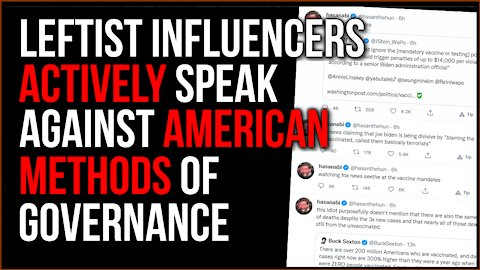 Verified Social Media Influencers Work AGAINST American System Of Governance, They Just Want POWER