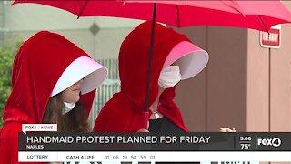Handmaids protest in Naples