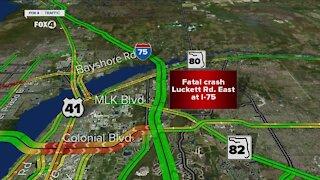 Fatal crash on I-75 and Luckett Road