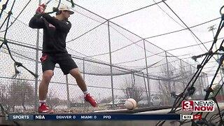NU baseball player Palensky staying focused