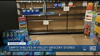 Empty shelves in Valley grocery stores