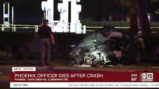 Phoenix police officer killed in crash overnight