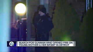 Young woman, one-month-old baby shot on Detroit's west side