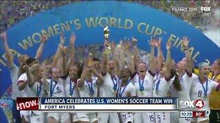 America celebrates U.S. Women's Soccer Team World Cup victory