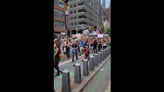 Protest Against Vaccine Passports in ... NYC