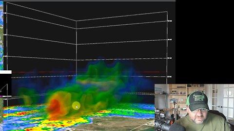 1st OK Tornado 2021   Take Shelter Mom!   GR2Analyst WX Software
