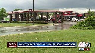 Overland Park police warn of suspicious man