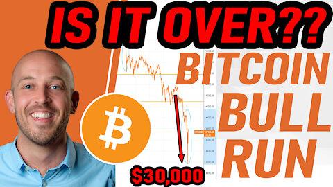 🔵 IS THE BULL RUN OVER?!? HUGE BITCOIN PRICE CRASH - WHY IS BITCOIN CRASHING??