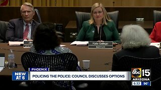 Phoenix City Council discussing options for civilian oversight board for police force